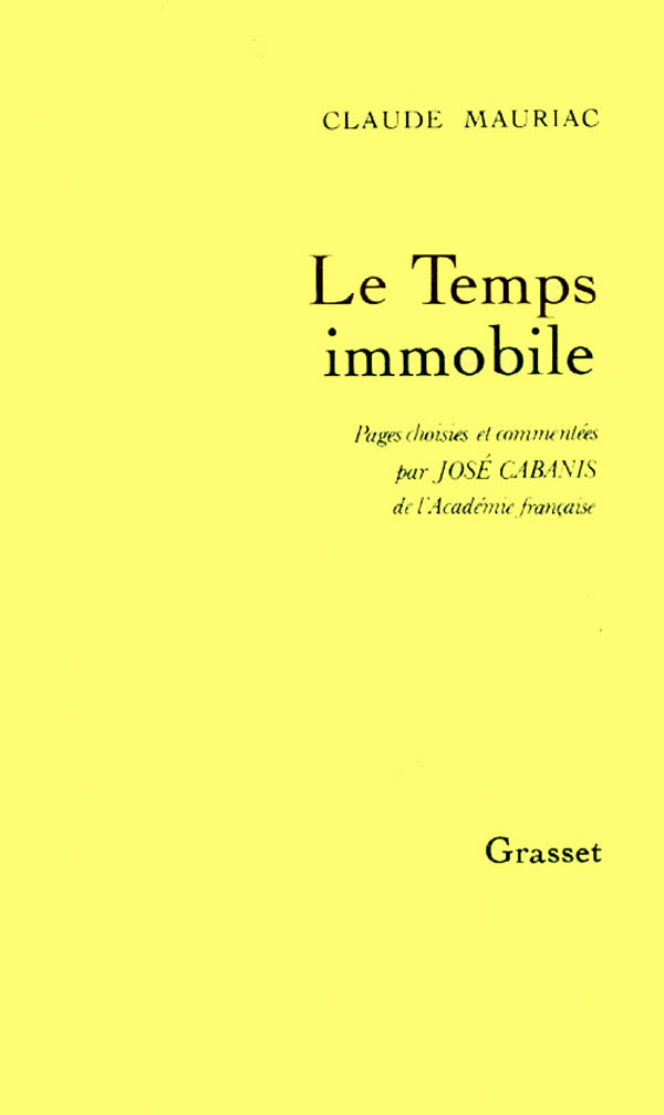 Temps immobile pages choisies