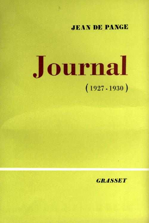Journal, Tome 1 : 1927-1930