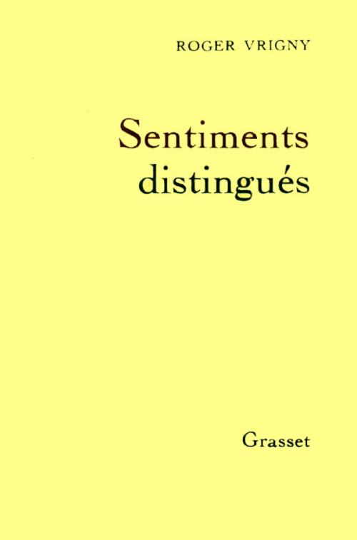 Sentiments distingués